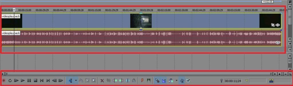 программа для видео монтажа - шкала звука